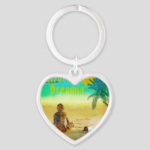 California Dreamin Heart Keychain