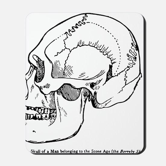 stone age skull Mousepad