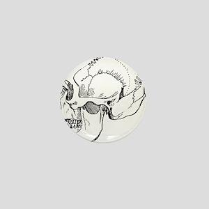 stone age skull Mini Button
