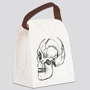 stone age skull Canvas Lunch Bag