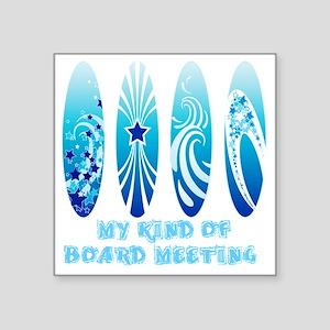 "Board Meeting (Light) Square Sticker 3"" x 3"""