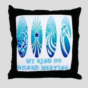 Board Meeting (Light) Throw Pillow
