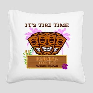 Its Tiki Time Square Canvas Pillow