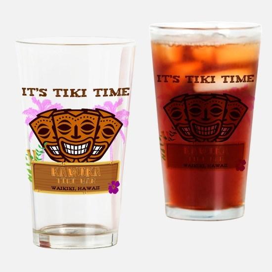 Its Tiki Time Drinking Glass