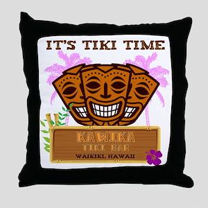 Its Tiki Time Throw Pillow