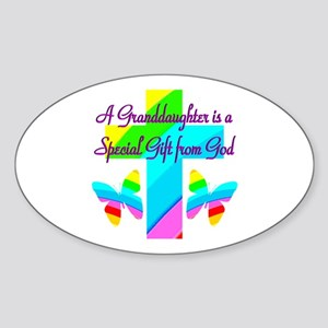 LOVE GRANDMA Sticker (Oval)