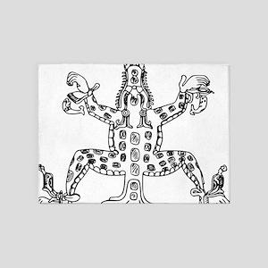 maya croc 5'x7'Area Rug