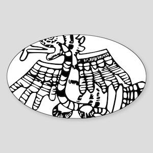 maya harpy eagle Sticker (Oval)