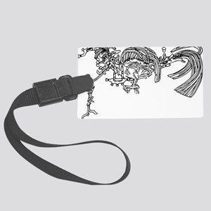 maya quetzal in temple of the cr Large Luggage Tag