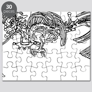 maya quetzal in temple of the cross palenqu Puzzle