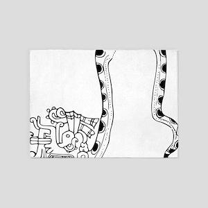 maya serpent god b 5'x7'Area Rug