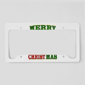 CHRISTMAS CHRIST License Plate Holder
