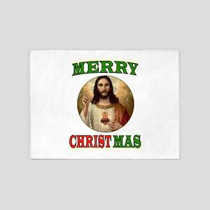 CHRISTMAS CHRIST 5'x7'Area Rug