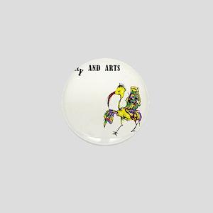 crazy and arts bird Mini Button
