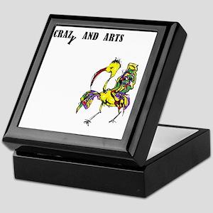 crazy and arts bird Keepsake Box