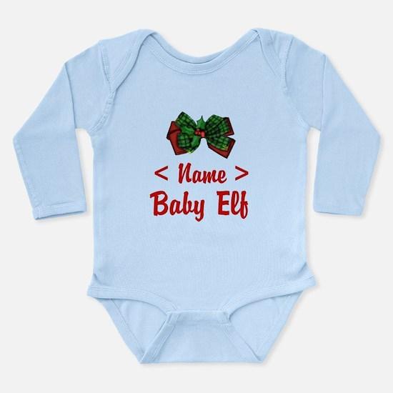 Personalized Baby Elf Long Sleeve Infant Bodysuit