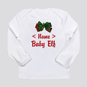 Personalized Baby Elf Long Sleeve Infant T-Shirt