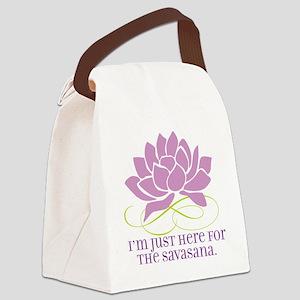 yoga_savasana Canvas Lunch Bag