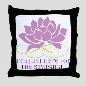 yoga_savasana Throw Pillow