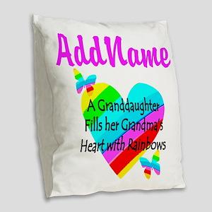 LOVE MY GRAMMY Burlap Throw Pillow