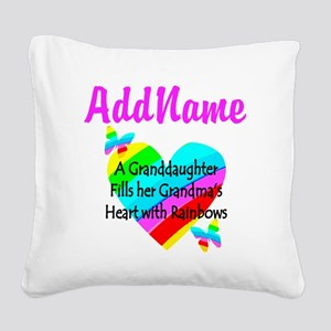 LOVE MY GRAMMY Square Canvas Pillow