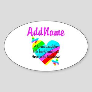 LOVE MY GRAMMY Sticker (Oval)