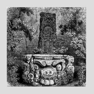 copan altar Tile Coaster