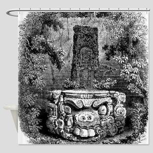 copan altar Shower Curtain