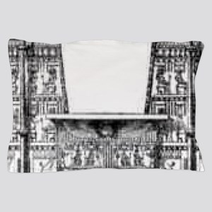 egyptian temple showing the pylons Pillow Case