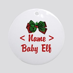 Personalized Baby Elf Ornament (Round)