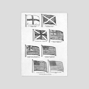 us flag evolution 5'x7'Area Rug