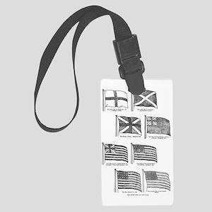 us flag evolution Large Luggage Tag