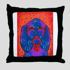 Siriusly -Basset hound Throw Pillow