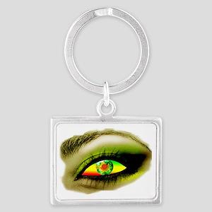 eye OF A LADY copy Landscape Keychain