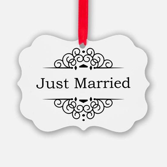 Just Married in Black Ornament