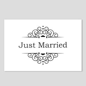 Just Married in Black Postcards (Package of 8)