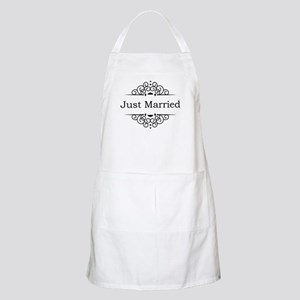 Just Married in Black Apron