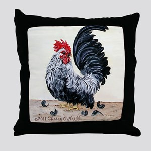 1 chicken card Throw Pillow