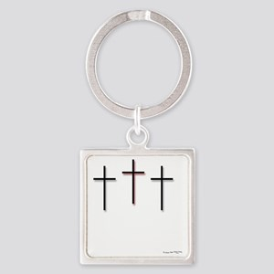 10x10_apparel-3Crosses Square Keychain