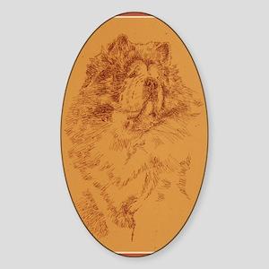 Chow_Chow_KlineZ Sticker (Oval)
