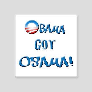 "obamawhiteblue Square Sticker 3"" x 3"""