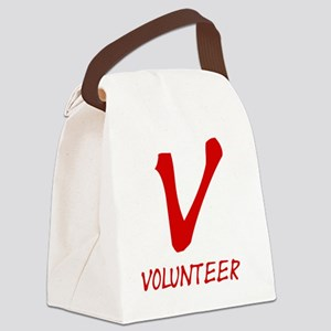 red_volunteers Canvas Lunch Bag