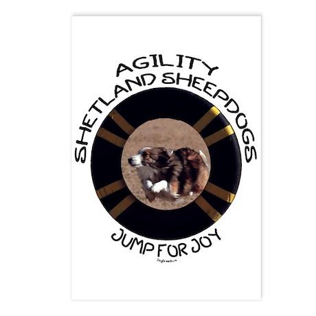 Agility Shetland Sheepdogs Jump Postcards (Package