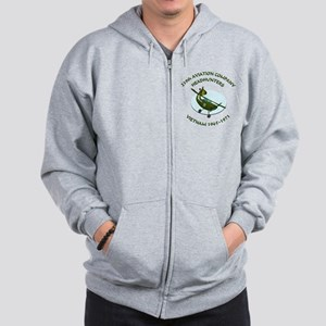 219th-Bird-Dog-white-back Zip Hoodie