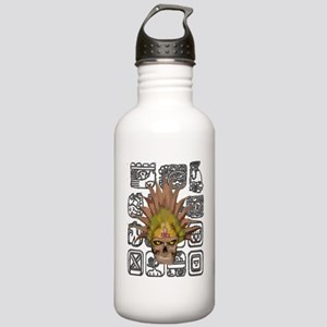 mayan skull with glyph Stainless Water Bottle 1.0L