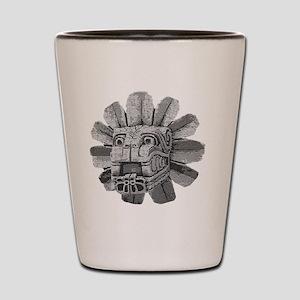 mayan stone Shot Glass