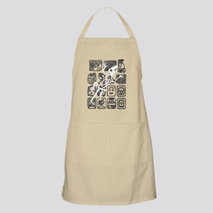 white lizard blk shirt Apron