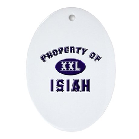 Property of isiah Oval Ornament