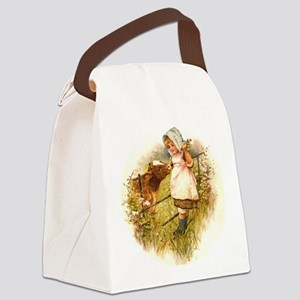 Round the Hearth  Canvas Lunch Bag