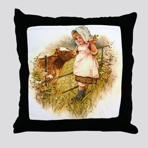 Round the Hearth  Throw Pillow